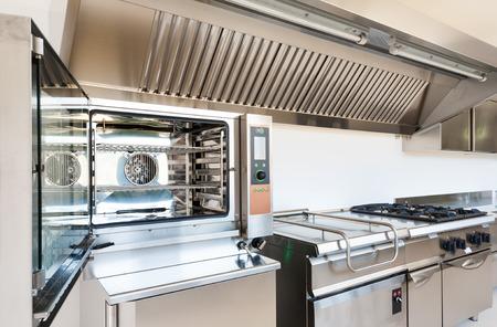 Photo pour Professional kitchen in modern building - image libre de droit