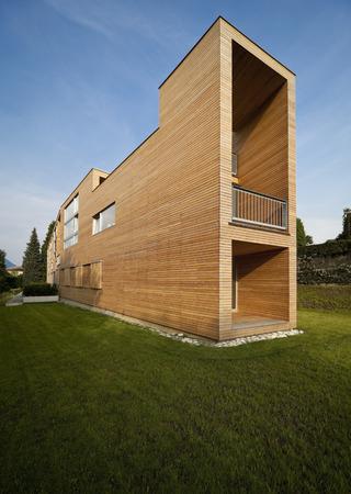 Modern house in wood