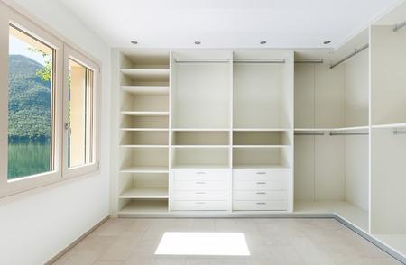 Photo pour Interior of a new empty house, dressing room - image libre de droit