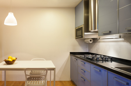 Foto de Nice apartment, interior, comfortable domestic kitchen - Imagen libre de derechos