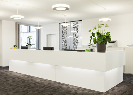 Photo for Empty reception hall in modern building - Royalty Free Image