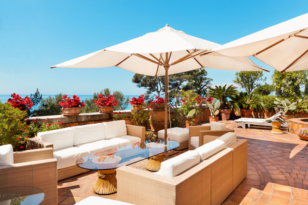 Photo for outside exterior with sea view from terrace - Royalty Free Image