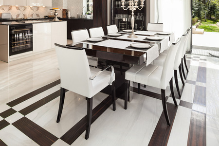 modern house interiors, dining room