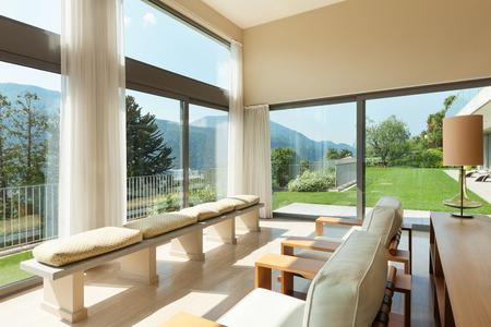 Photo pour Interior of a modern apartment furnished, wide living room - image libre de droit