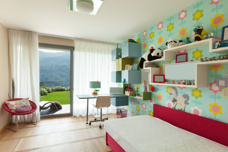 Photo for Interior of apartment, children room with many toys - Royalty Free Image