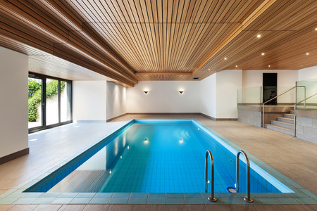 Foto per luxury apartment with indoor pool, wooden ceiling - Immagine Royalty Free