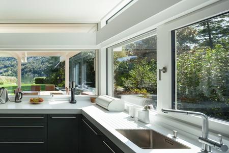Photo pour interior house, view of a modern kitchen - image libre de droit