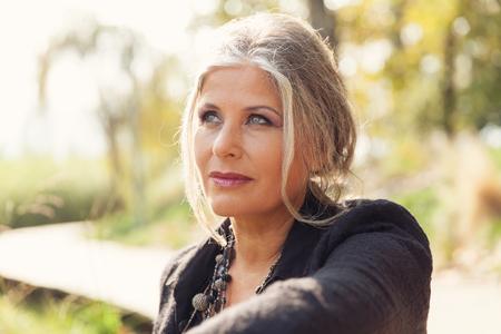 Foto für Fifty year old woman in outdoors - Lizenzfreies Bild