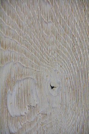 Photo for Texture of a light wood surface worked with veins and knots in relief. - Royalty Free Image