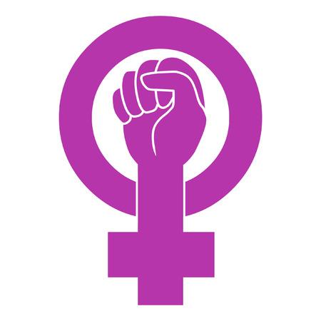 Illustration pour Symbol of feminist movement - image libre de droit