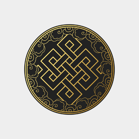 Illustration for Traditional buddhist symbol of luck. Vector illustration - Royalty Free Image