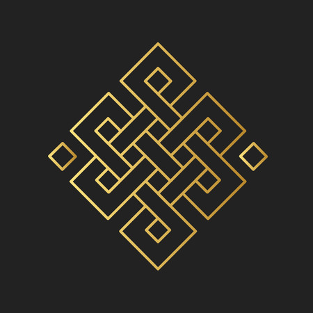 Ilustración de Traditional buddhist symbol of luck. Vector illustration - Imagen libre de derechos