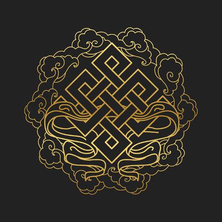 Illustration pour Traditional buddhist symbol of luck. Vector illustration - image libre de droit