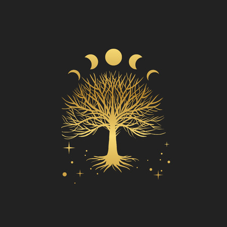 Illustration pour Sacred tree. Vector hand drawn illustration - image libre de droit