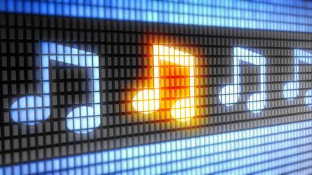 Photo pour Musical note word on electronic concept - image libre de droit