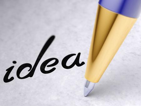 Photo pour idea on the page - image libre de droit