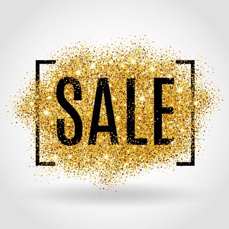 Illustration pour Gold sale background for flyer, poster, shopping. - image libre de droit