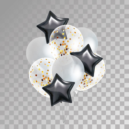 Illustration pour Gold Star balloon on background - image libre de droit