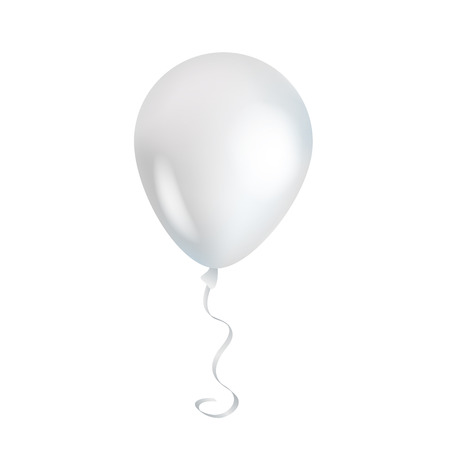 Illustration pour White transparent balloon on background. - image libre de droit