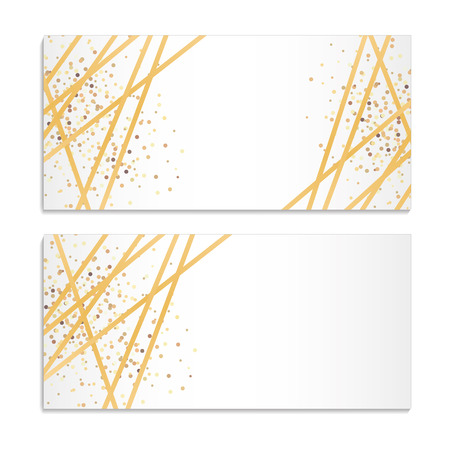 Illustration for Gold Streamers Sparkles Background - Royalty Free Image