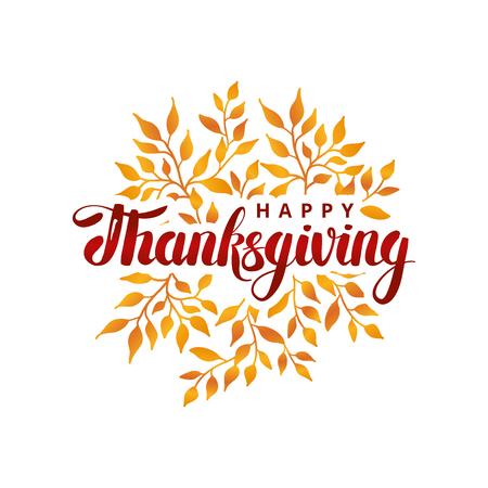 Ilustración de Happy thanksgiving day template - Imagen libre de derechos