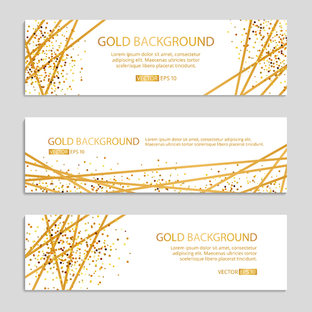 Illustration pour Gold Sparkles banner Background Vector illustration. - image libre de droit