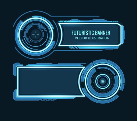 Ilustración de Illustartion of futuristic glowing background vector illustration - Imagen libre de derechos
