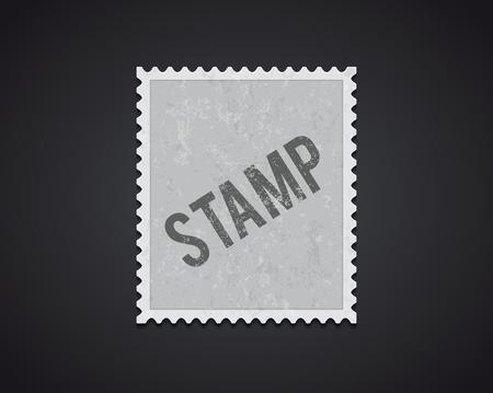 Illustration pour Illustartion of white stamp mockup eps 10 high quality - image libre de droit