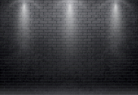 Illustration pour Illustartion of brick wall black background - image libre de droit