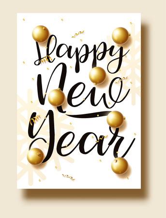 Illustration pour happy new year 2018 gold and black colors place for text chris - image libre de droit