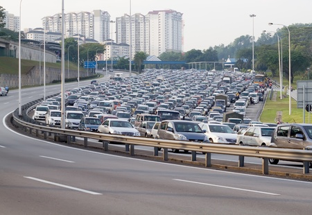traffic jammed in malaysia