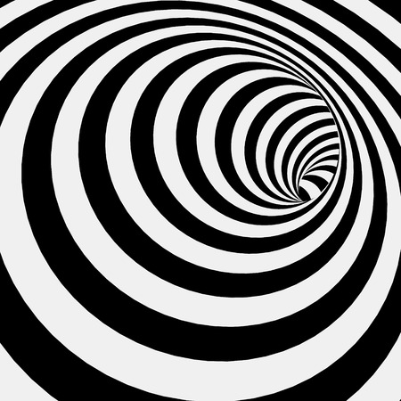 Illustration pour Spiral Striped Abstract Tunnel Background. Vector Illustration - image libre de droit