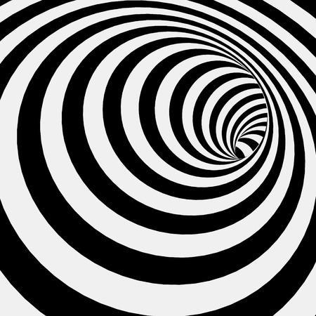 Ilustración de Spiral Striped Abstract Tunnel Background. Vector Illustration - Imagen libre de derechos