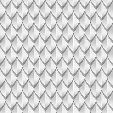 Ilustración de White dragon scales seamless background texture. Vector illustration - Imagen libre de derechos