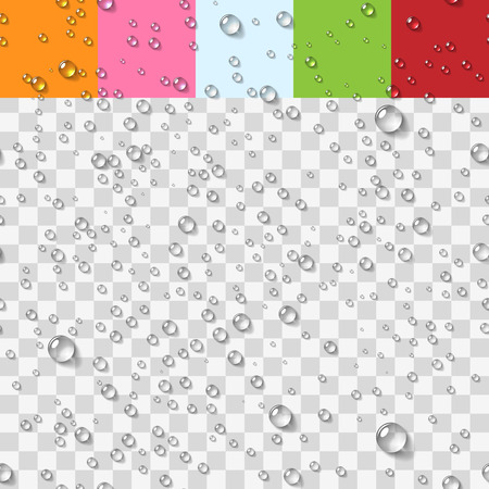 Illustration for Water Transparent Drops Seamless Pattern Background. Vector Illustration - Royalty Free Image