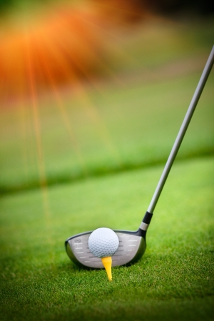 Photo for A golf club on a golf course - Royalty Free Image