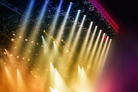Photo for Colorful Stage lights at concert - Royalty Free Image