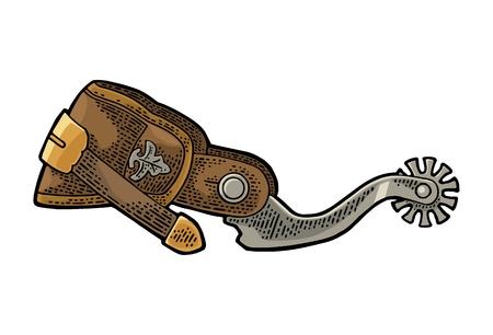 Ilustración de Spur from leather and metal. Vintage engraving - Imagen libre de derechos