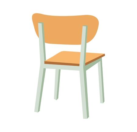 Ilustración de School chair icon. Vector flat color illustration. - Imagen libre de derechos