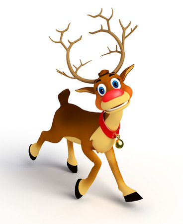 Photo for reindeer on blank background - Royalty Free Image
