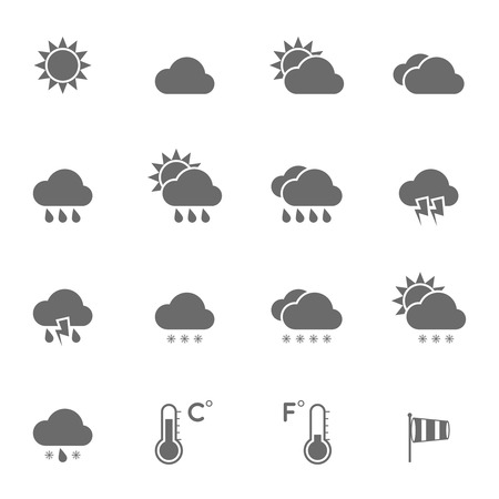 Illustration pour Weather Icons Set. - image libre de droit