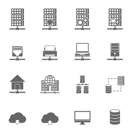 Illustration pour Server Hosting Icons. - image libre de droit