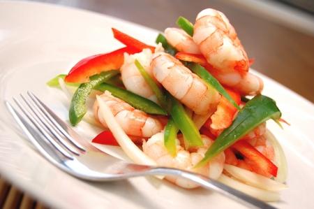 Succulent prawn salad