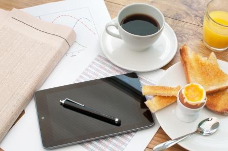 Photo pour Business breakfast  - image libre de droit