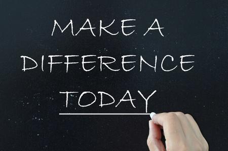 Photo pour Make a difference  - image libre de droit