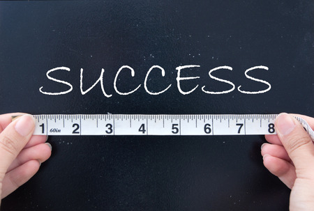 Photo pour Measuring success  - image libre de droit