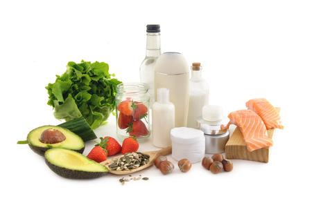 Photo pour Healthy food for beautiful skin - image libre de droit