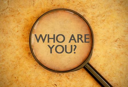 Foto de Who are you - Imagen libre de derechos