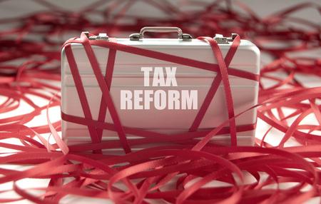 Photo pour Tax reform red tape concept - image libre de droit