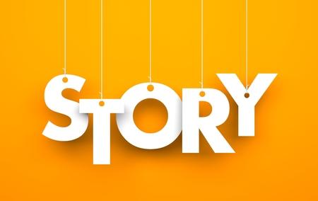 Photo pour Story. Text on the strings - image libre de droit